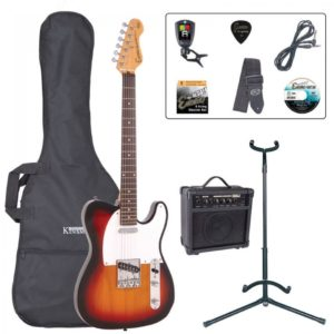 Encore E2 Electric Guitar Pack - Sunburst