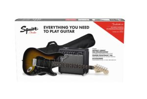 Squier Affinity Series HSS Stratocaster Electric Guitar Pack - Brown Sunburst