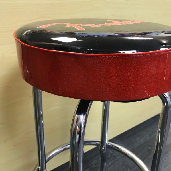 "Shop Display Fender 30"" Red Sparkle Guitarist Barstool"