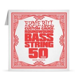 Ernie Ball Custom Gauge Roundwound .050 Single Bass String - 1650