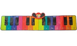 Rainbow Colours Slim 6ft Piano Dance Mat- RBTPM