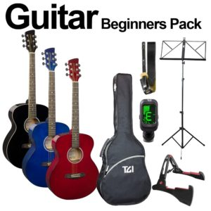 Brunswick + TGI Acoustic Guitar Beginners Pack - Red