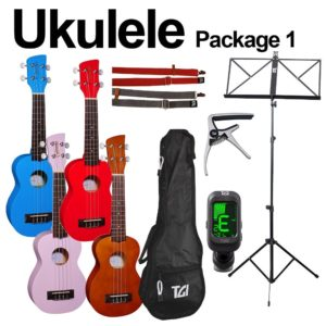 Brunswick + TGI Ukulele Soprano Complete Pack - Light Purple/Pink Ukulele