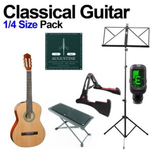 Classical Guitar 1/4 Size Beginners Pack for Kids