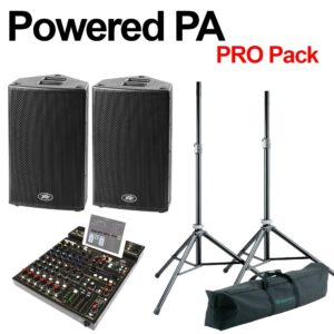 Peavey Powered PA Professional Pack -Inc Cabs, Mixer and Stands