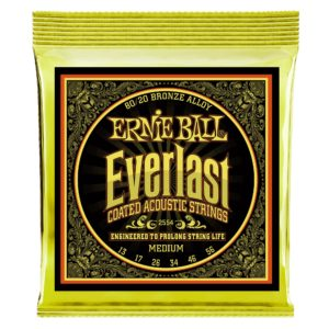 Ernie Ball Everlast Medium Coated 80/20 Bronze Acoustic Guitar Strings 13-56