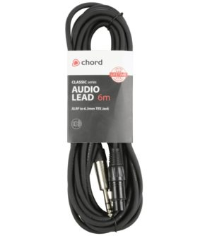 Chord XLR/F to 6.3mm TRS/Stereo Jack Lead
