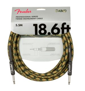 Fender 18.6ft/5.5m Pro Series Woodland Camo Tweed Guitar Cable