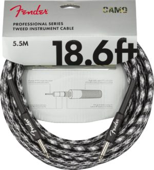 Fender 18.6ft Pro Series Winter Camo Tweed Guitar Cable